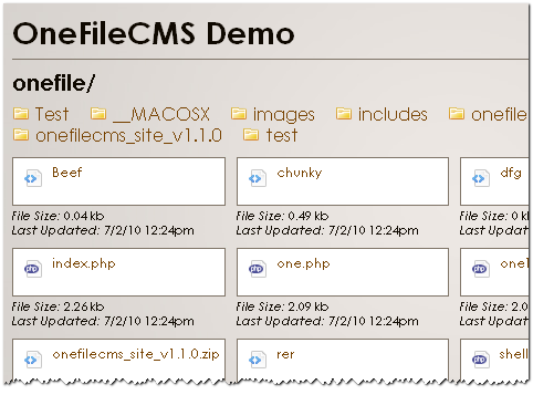 download the installation pack from the link below and extract the content open the onefilecmsphp file in a code editor and edit the configuration info