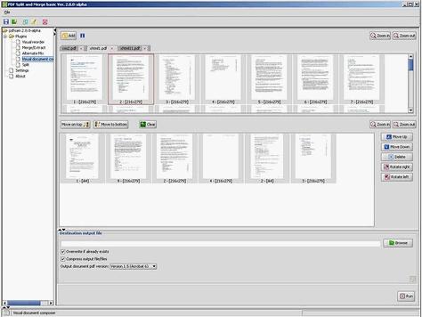 pdf file split and merge