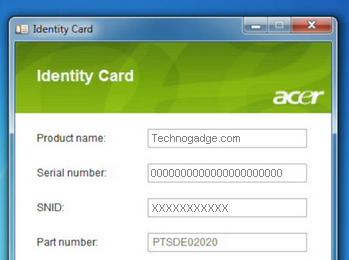 Acer Identity Card