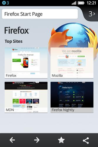 Firefox OS Start Page