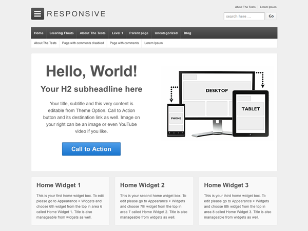 30 Free Responsive WordPress Themes
