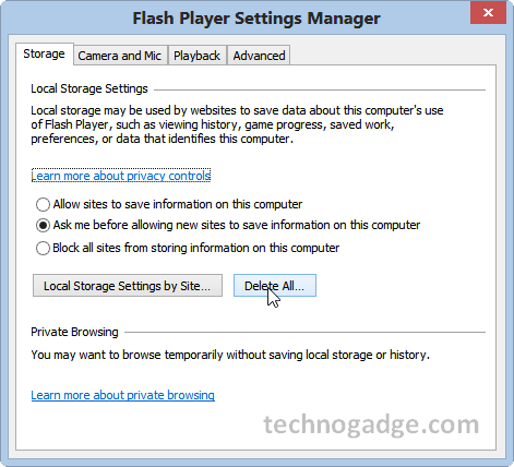 How to clear adobe flash player cache technogadge How to start flash player
