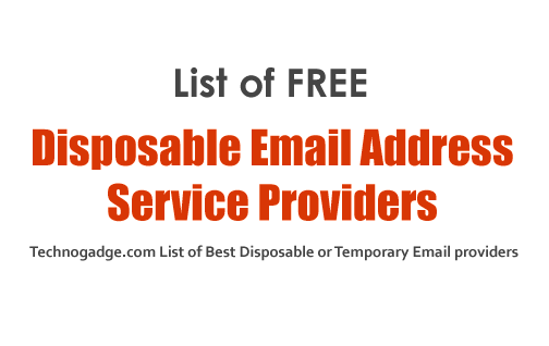 Best Free Disposable Email Address Services - TechnoGadge