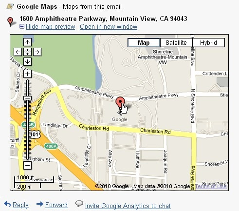 Google-Maps-Previews-in-Mail Gmail Map on messaging map, netflix map, mobile map, mosaic map, mac map, ebay map, security map, phone map, apple map, latitude map, pandora map,