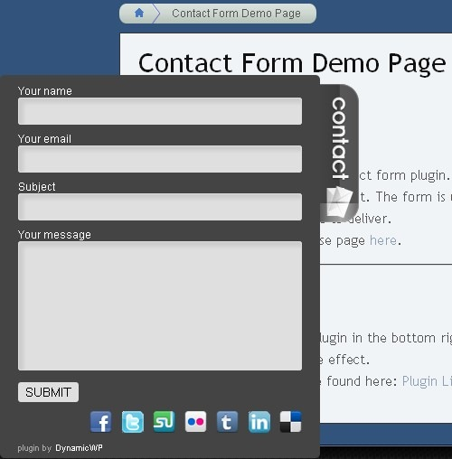 DynamicWP Contact Form Plugin for WordPress - TechnoGadge