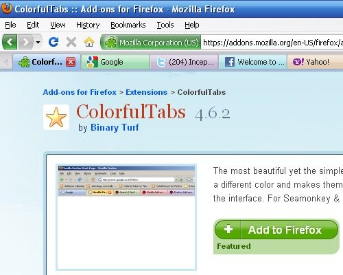 Colorful Firefox Tabs With Colorfultabs Add On Technogadge