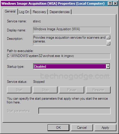 Windows Image acquisition wia driver